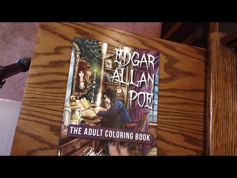 Edgar Allan Poe Coloring Book by Jade Summer, Review & Flipthrough