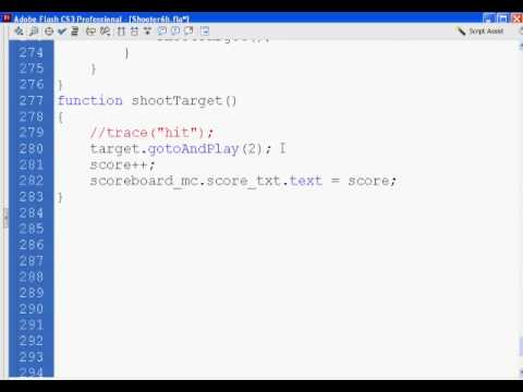 Flash Shooter Game 21 - Actionscript 2.0