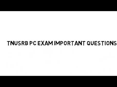 POLICE PC EXAM IMPORTANT QUESTIONS
