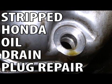 2000 Honda Odyssey Stripped Oil Pan Drain Plug Repair