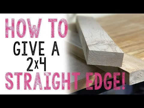 How we give our lumber a straight edge!