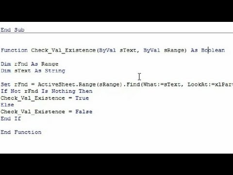 Check for Duplicates in a Range in VBA : Computer Programming