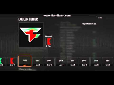 How to make a Rainbow FaZe emblem