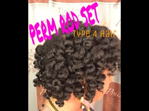 Perm Rod Set on DRY Type 4 Natural Hair | I am Posh Syd