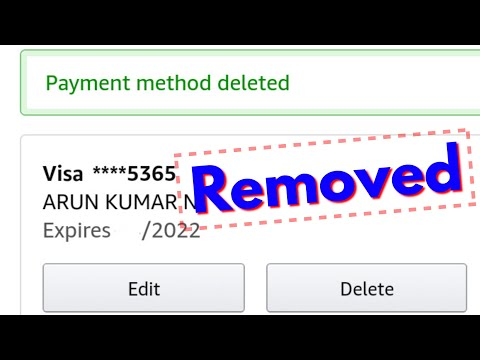 How To Remove Payment Method From Amazon||Delete Credit & Debit Card Details(Info)