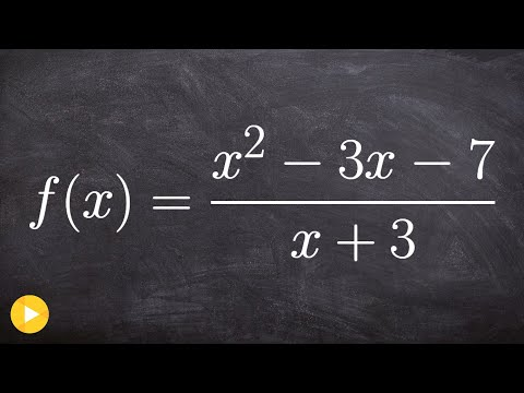 Learn How to Determine Slant Asymptote of a Rational Function