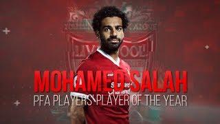 محمد صلاح يتوج احسن لاعب في الدوري الانجليزي  -  Mo Salah PFA 2018