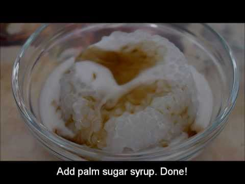 How to make Sago Pudding Recipe (with palm sugar syrup and fresh coconut milk)
