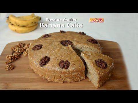 Eggless Banana Pressure Cooker Cake | Ventuno Home Cooking