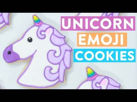 UNICORN EMOJI COOKIES ft Lilly Singh - NERDY NUMMIES