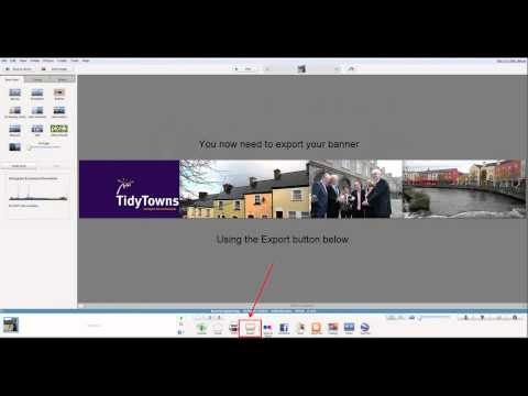 Create a website banner using picasa