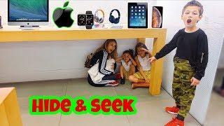 Hide And Seek In The Apple Store!!   Familia Diamond