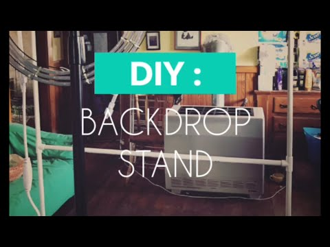 $13 DIY Backdrop Stand for Video and Photography