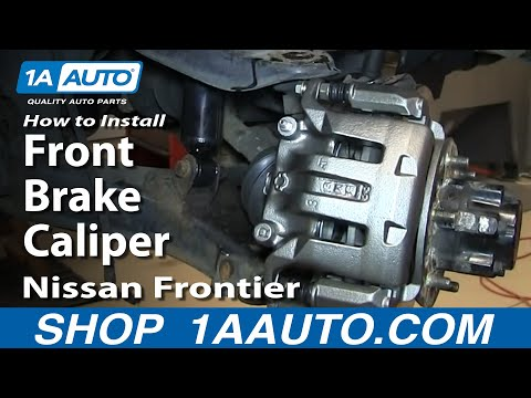 How To Install Replace Front Brake Caliper 2001-04 Nissan Frontier