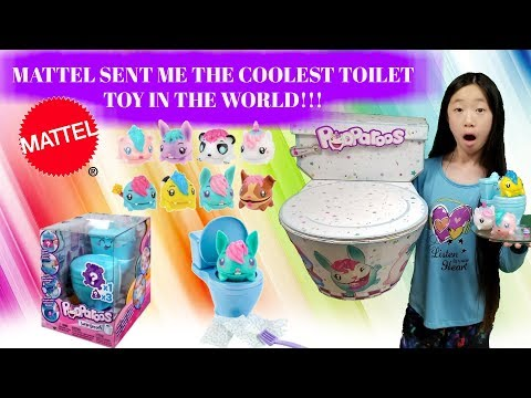 MATTEL TOYS SENT ME THE COOLEST TOILET TOY IN THE WORLD!!! Pooparoos Surpriseroos Opening!!!