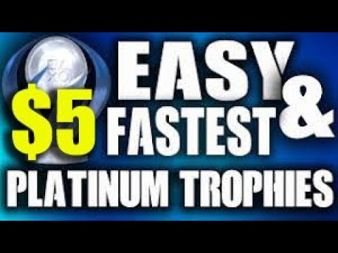 $5 Cheap Platinum I Easy DOUBLE Platinum PS4 & PS VITA Game  (Fast Trophy Guide)