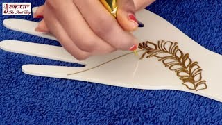 Mehndi Design For Hands : Simple Ornamental Mehndi Design For Girls by Sonia Goyal #225