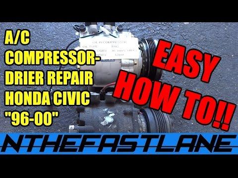 A/C Compressor And Drier Repair (Honda Civic)