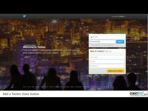 Adding a Twitter