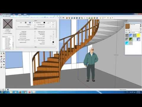 Spiral Stair in Sketchup