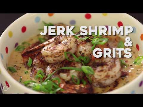 Jerk Shrimp & Grits