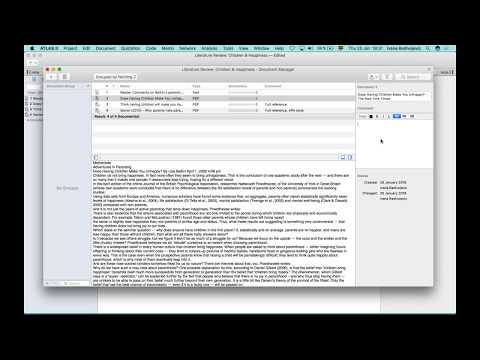 Literature Review with ATLAS.ti 8 Windows and Mac (Jan. 25th, 2018)
