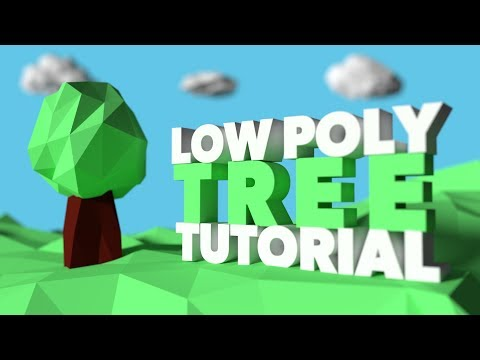 Beginner Blender Tutorial: How to create a low poly Tree