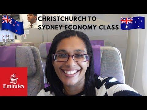 Emirates Christchurch to Sydney in economy class   EK413 flight review