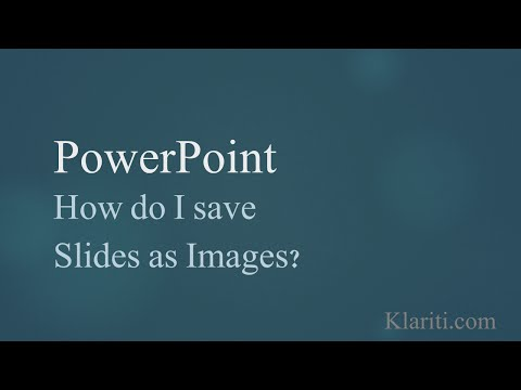 Powerpoint - How to Export Slides to PNG and JPG