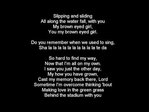 Van Morrison - Brown Eyed Girl lyrics - Radio Edit