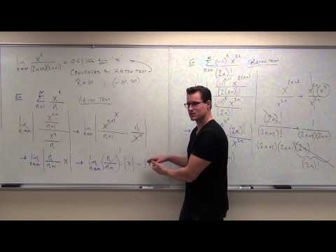 Calculus 2 Lecture 9.7:  Power Series, Calculus of Power Series, Ratio Test for Int. of Convergence