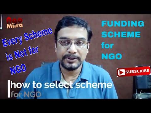 #NGO How to select scheme for NGO, किस प्रकार से #FUNDING स्कीम NGO के लिए चुननी चाहिए..