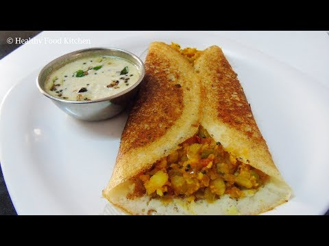 Crispy Masala Dosa Recipe - Masala Dosai Recipe in Tamil - Dosa Recipe - How to make Masala Dosa
