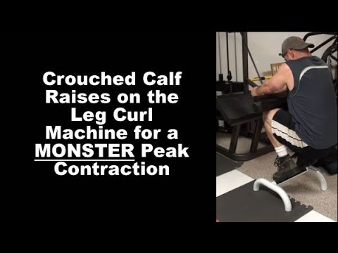 Carve Up Your Calves With Crouched Calf Raises on the Leg Curl Machine