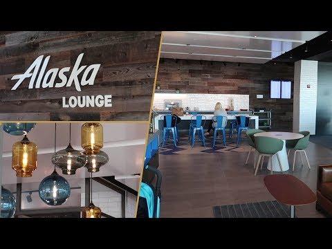 Alaska Lounge JFK T7 FULL REVIEW