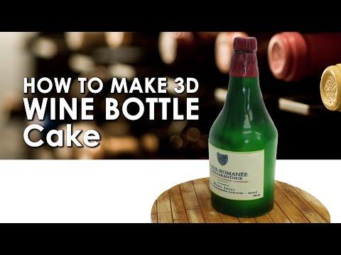 How to Make Wine Bottle 3D Cake DIY#12 亮麗仿真酒瓶蛋糕