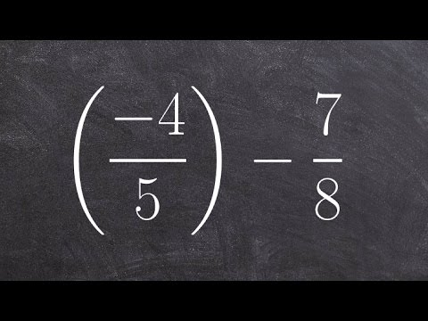 How to subtract fractions with unlike denominators