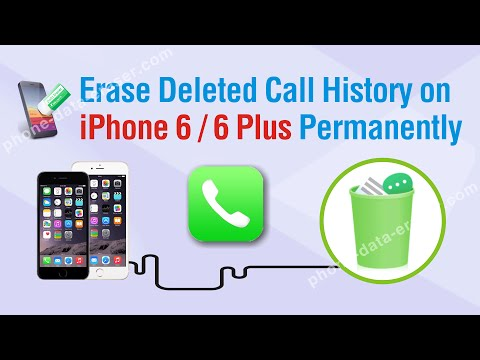How to Erase Deleted Call History on iPhone 6 / 6 Plus Permanently
