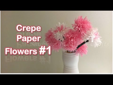DIY Crepe Streamers flower tutorial | Easy Crepe Streamer craft Ideas