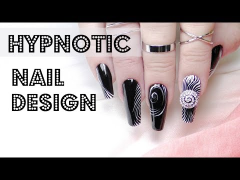Optical illusion 🌀 hypnotic nails art design