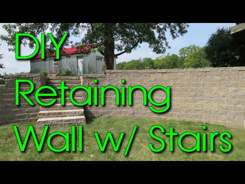 DIY How To Build a Versa Lok Segmented Retaining Wall with Stairs