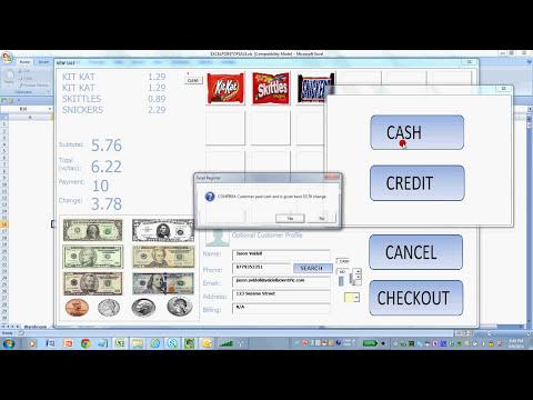 MS Excel Point Of Sale /Cash Register Software for Windows / Office 365