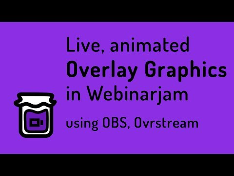 Animated lower thirds and title cards in Webinarjam
