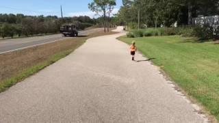 Eliana training for the 2017 Mickey Mile in Disney World