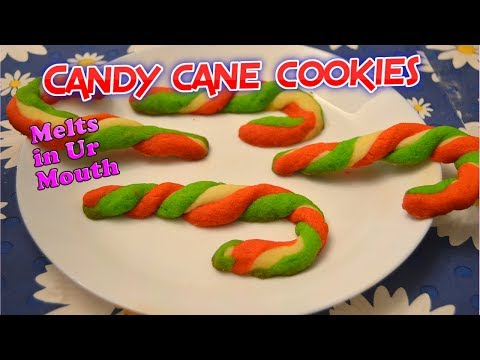 How to make candy cane cookies | How to make biscuits at home (Independence Day Special)