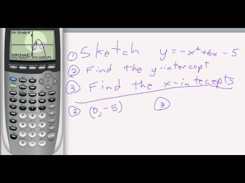 Finding x and y intercepts using TI-84