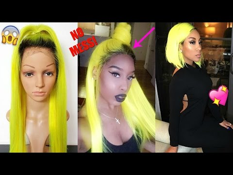 HOW TO: ADD ROOT TO A COLORED  SYNTHETIC LACE WIG (BEGINNER FRIENDLY) | SWAGGBEAUTY.COM *2017*
