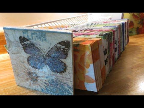 DIY Decoupage a CD DVD organizer to Paper organizer