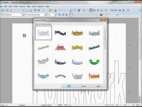LibreOffice-Writer (80) Fontwork-Part 1