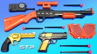 Special Toy GUNS BOX Military Toys Playset   Toy Guns Test